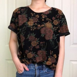 vintage floral top